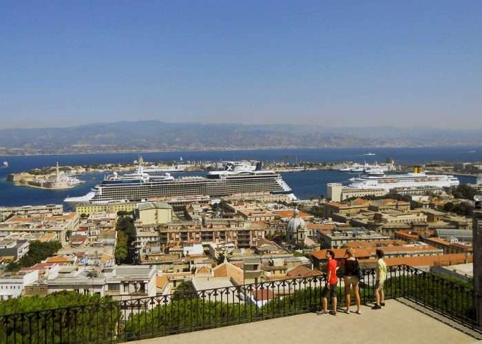 Panorama Messina from Christ the King Temple