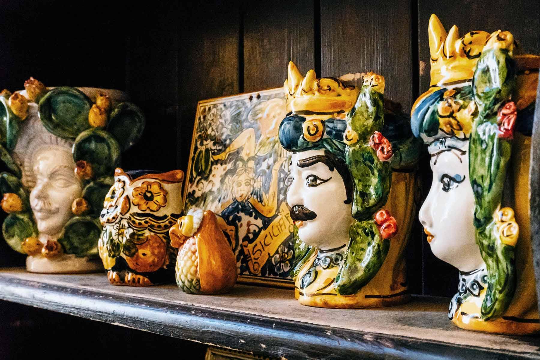 sicilian ceramic heads