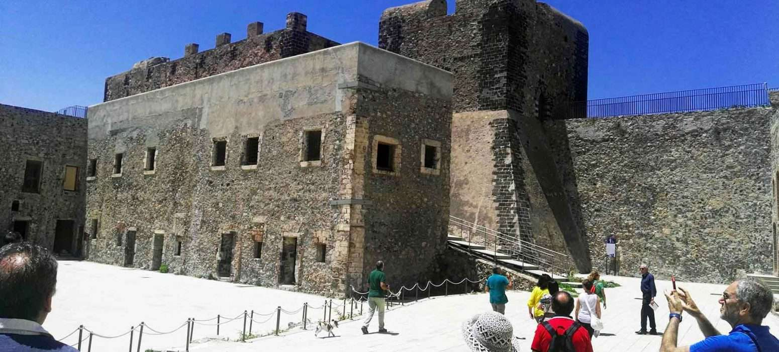 Milazzo castle in milazzo sicily