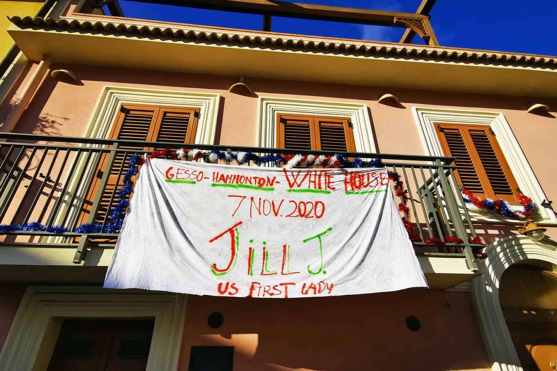 gesso sicily jill biden banner