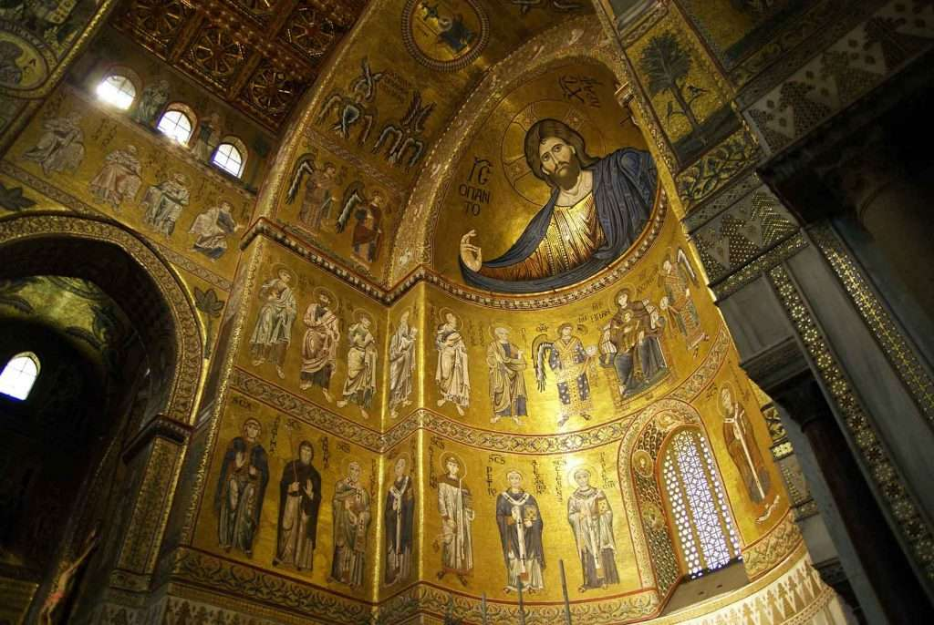 Monreale cathedral view of the apse