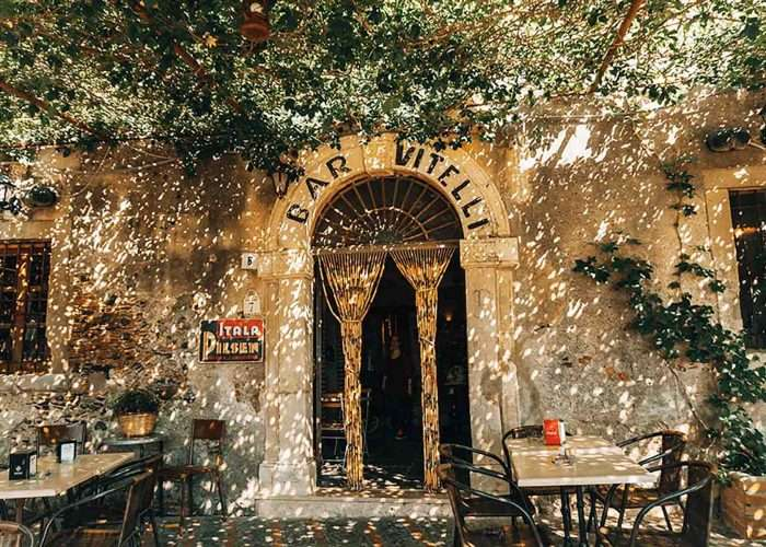 Bar Vitelli Sicily entrance the godfather sicily scene