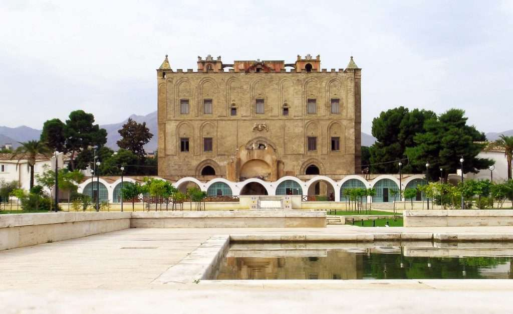 Zisa palace palermo front view