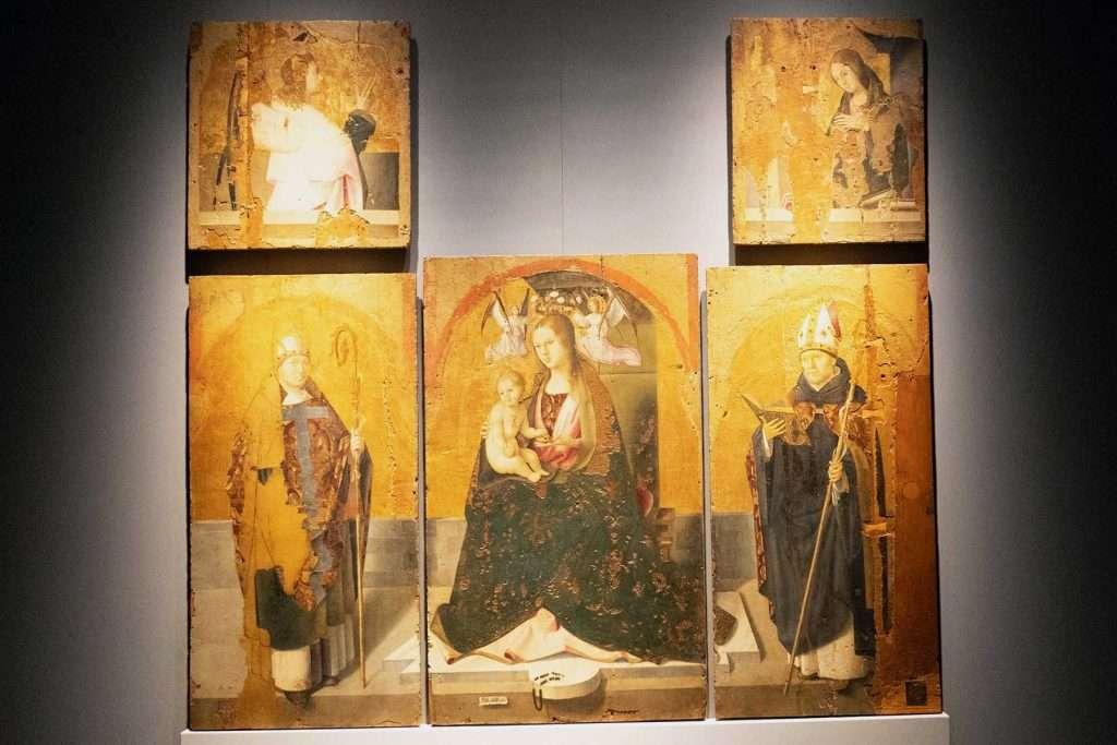 Antonello da Messina paintings: San Gregorio Polyptych