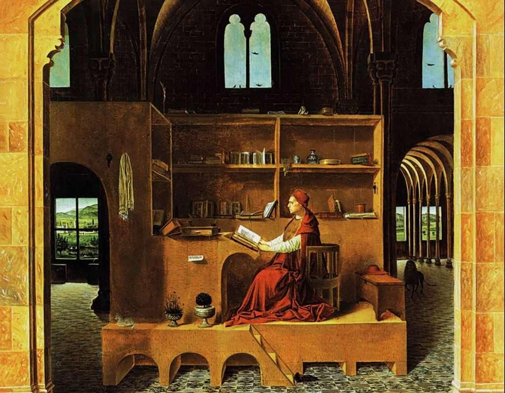 St Jerome in his study Antonello da Messina