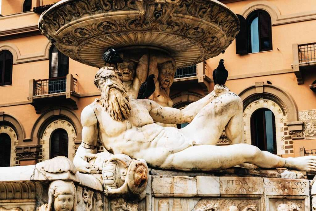 Orion fountain of Messina detail