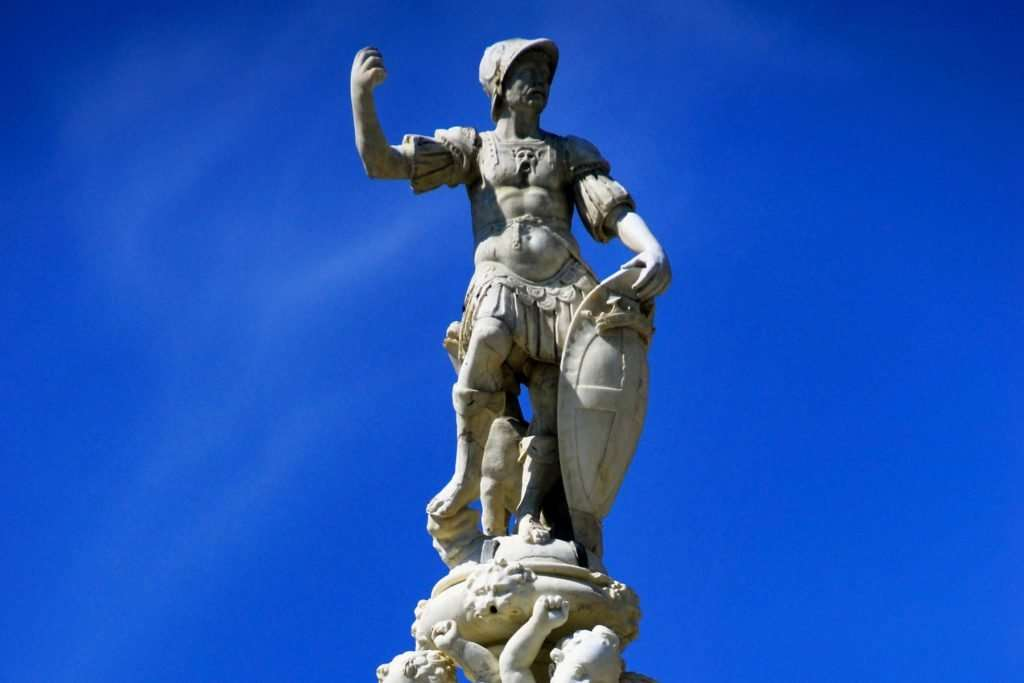 Orion mythology: the fountain of Orion in Messina