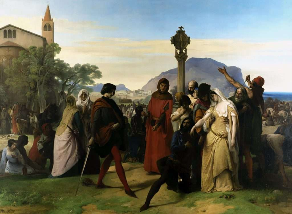 Sicilian vespers by Francesco Hayez 1846