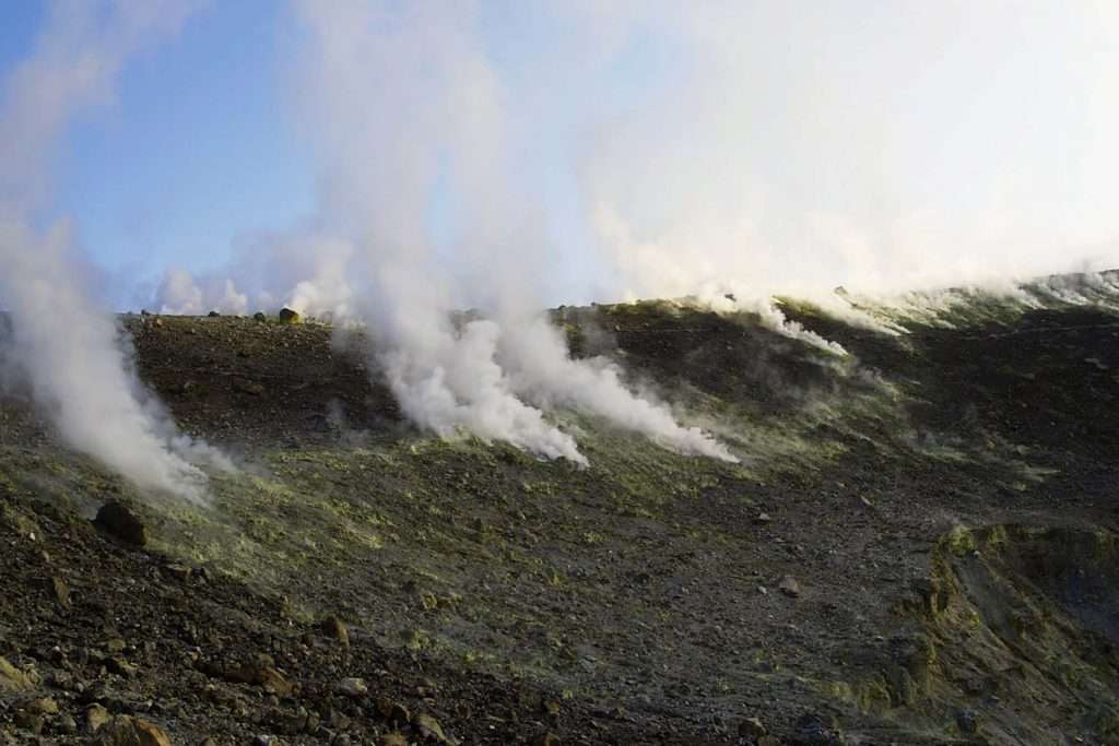 great crater of Vulcano
